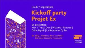 Kicoff party Projet Ex